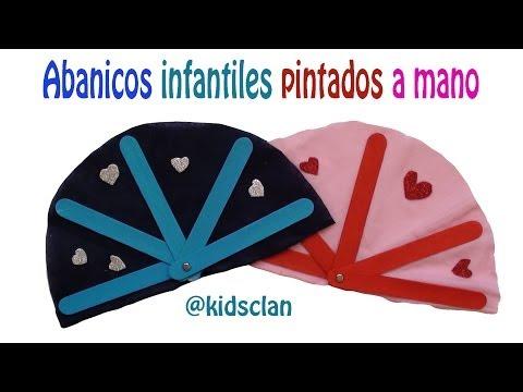 Día de la madre - Abanicos infantiles pintados a mano - DIY