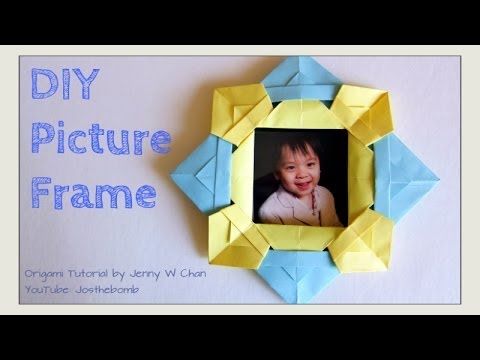 Diy Origami Picture Frame How To Fold Make A Picture