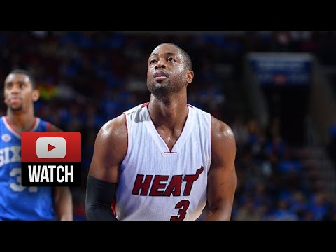 Dwyane Wade Full Highlights at 76ers (2014.11.01) - 9 Pts, 10 Ast