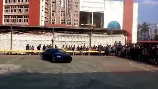 Super car crash to mob during motoshow