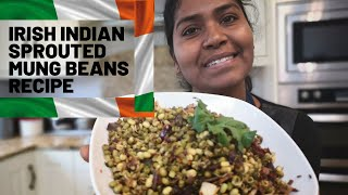 Irish Indian Sprouted Mung Beans (Moong Dal) Recipe -  How to Sprout Mung Beans at Home and Cook