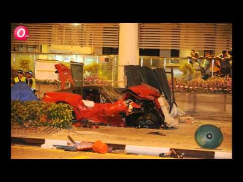 Tragic Accident In Singapore (Ferrari/Taxi) With Post Accident Pix