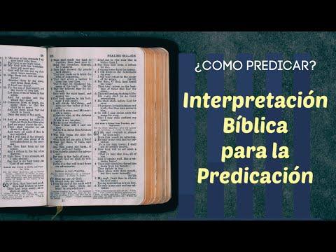 Interpretacion biblica para la predicacion