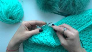 How to knit. Knitting Tutorials. Вязание спицами. Узор Smock stitch #19