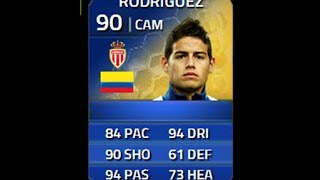 FIFA 14 TOTS RODRIGUEZ 90 Player Review & In Game Stats Ultimate Team