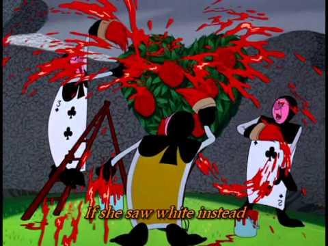 Lyrics Alice In Wonderland Painting The Roses Red