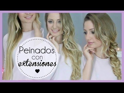 3 Peinados fáciles con extensiones y Cómo colocarlas