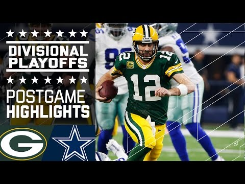 Packers Vs Cowboys Nfl Divisional Game Highlights