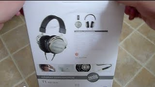 Beyerdynamic T1 headphones unboxing