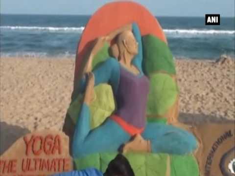 Sand art to commemorate 2nd International Yoga Day - ANI News
