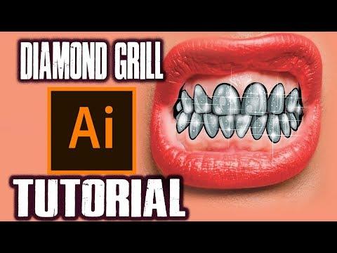 How To Make Diamond Grill ! - Step By Step Tutorial ( ADOBE ILLUSTRATOR )