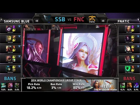 Samsung Blue vs Fnatic | Game 1 Group C S4 LOL World Championship 2014 Day 2 | SSB vs FNC D2G2