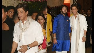 Shahrukh Khan At Mukesh Ambani Ganesh Chaturthi 2017 Party