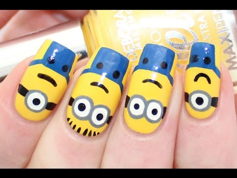 Minions / Despicable Me Nail Art Tutorial