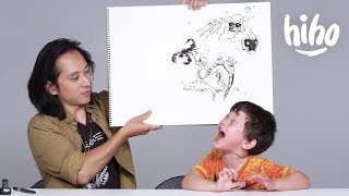 Kids Describe Their Fears to an Illustrator | Kids Describe | HiHo Kids