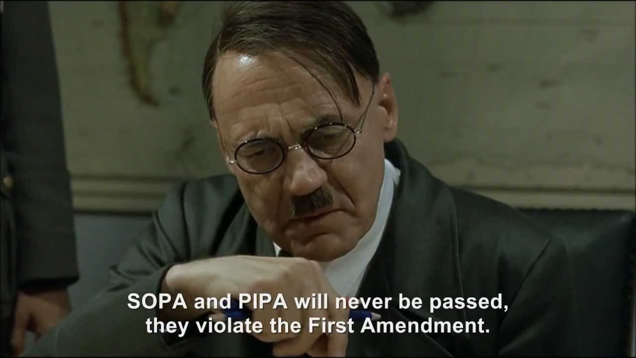 Hitler rants about SOPA and PIPA