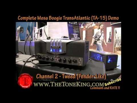 OFFICIAL Mesa Boogie TransAtlantic TA-15 Demo Review by TTK NAMM TA15 2010 10