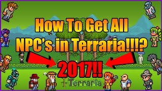 How To Get All NPC's in Terraria (2017!!!)