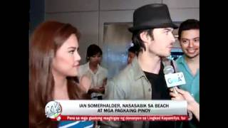Somerhalder overwhelmed by Pinoy fans