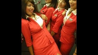 Hot Air hostess giving Indian Gali