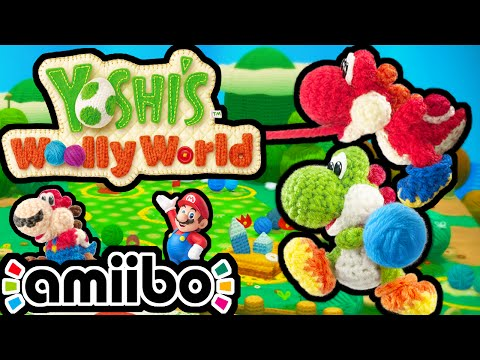 Yoshi's Woolly World PART 1 Gameplay Walkthrough 2 Player Co-Op (World 1 - Mario Amiibo) Wii U