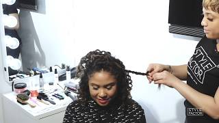 Angela Yee's Half Up Braided Hairstyle Tutorial