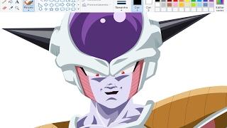Desenhando Anime no Paint - Freeza - Dragon Ball super