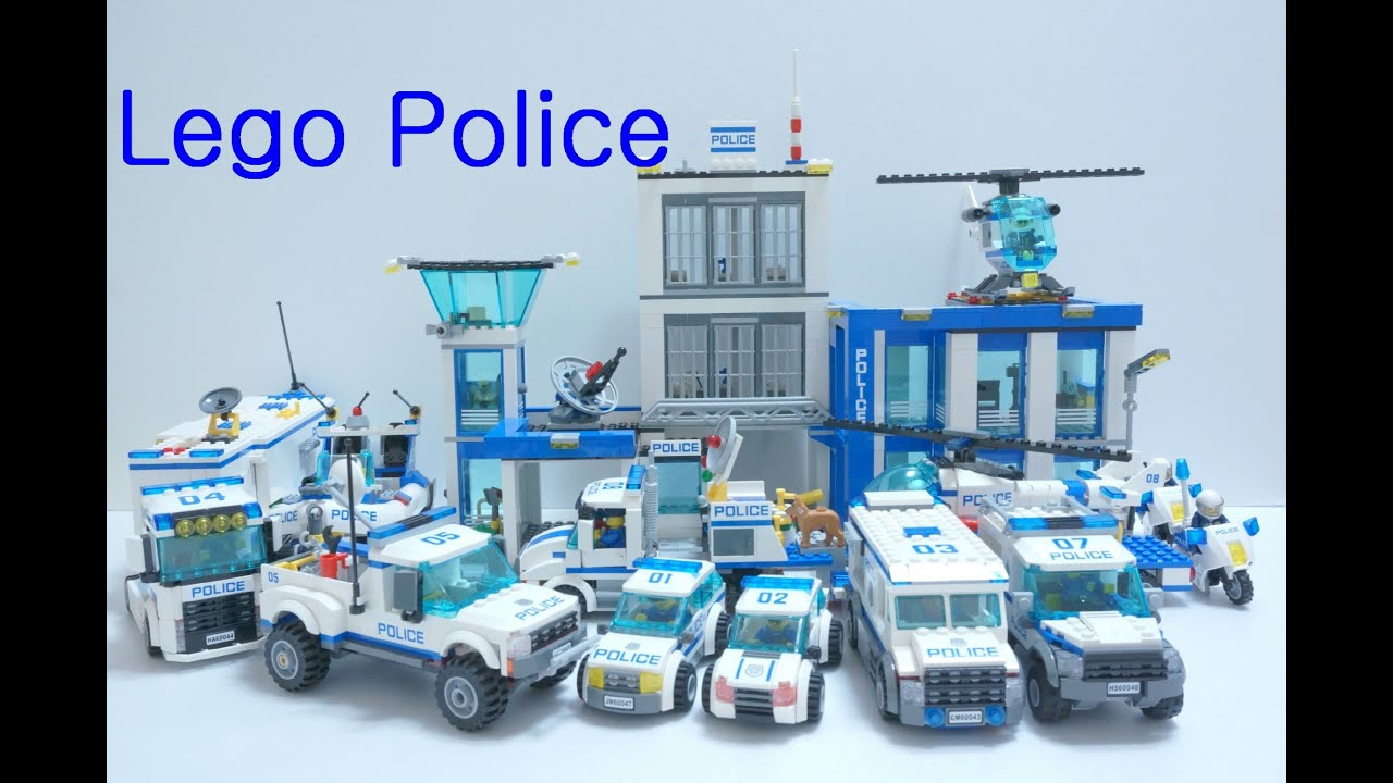 How to build a lego city police boat lights