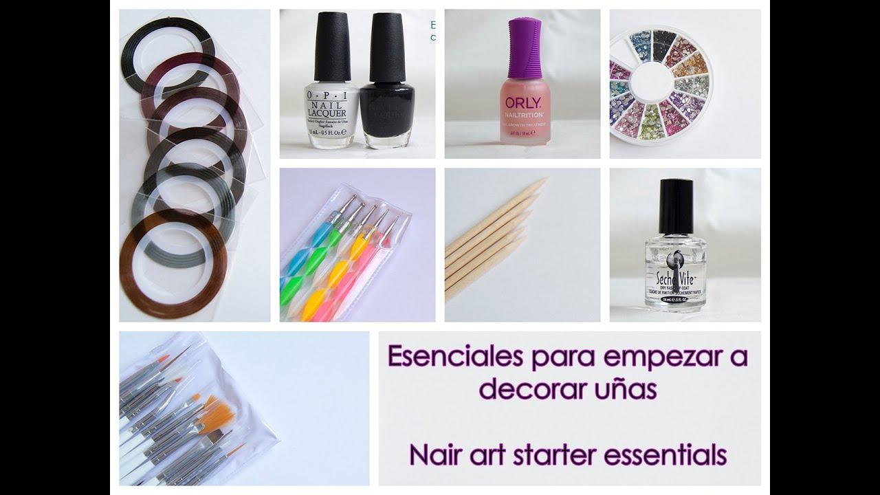 / Nail art starter kit essentials for beginners - YouTube