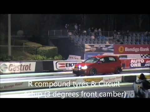 Golf 6 GTI Stage 3 APR Australia drag run
