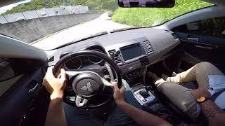 TESTE EPICO DO LANCER EVOLUTION X NA ESTRADA DOS ROMEIROS | TEST DRIVE ONBOARD POV