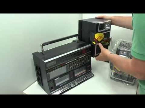 Brandnew Retro Ghetto Blaster Vintage Boombox 80's 1980's Radio Twin Cassette
