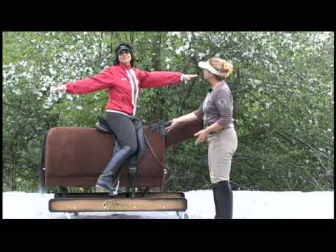 Ruth Poulsen Gives Jane Savoie Dressage Position Tips on Rocky, the Equicizer