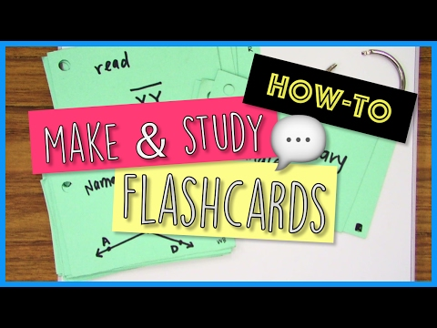 How-to Make and Use Flashcards -  School Tips