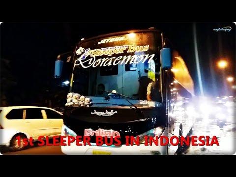 Brilian SLEEPER BUS berangkat dari agen Bekasi Timur