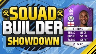 FIFA 17 SQUAD BUILDER SHOWDOWN!!! PLAYER OF THE MONTH STERLING!!! Purple Raheem Sterling Squad Duel