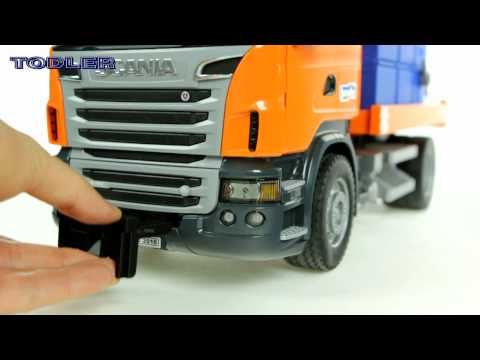 Bruder 03585 Scania R-Series Snow Plow Truck REVIEW