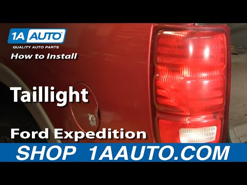 How To Install Replace Taillight Ford E