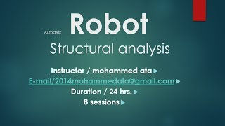 Download Session (2) - Robot Structural Analysis Professional Import From Revit & Autocad 3Gp Mp4