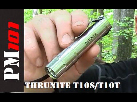 Thrunite T10ST10T: Stainless and Titanium AA EDC Flashlights