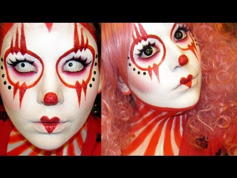tutorial halloween cute girly clown makeup tutorial clowning around a ...