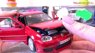 Play Doh and cars: Volkswagen, Infiniti, Peugeot 206cc