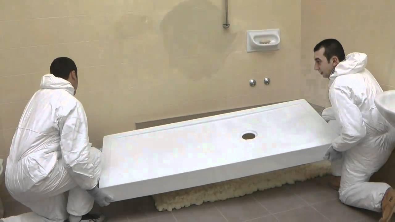 www.remail.it - trasformazione vasca in doccia - la doccia al posto della vasca - YouTube
