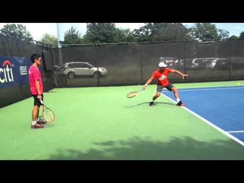 Yen-Hsun Lu practicing at 2015 Citi Open