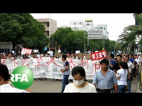 Thousands Protest PX Project in Shanghai