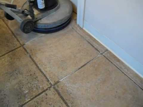 Floor doctor acid wash on ceramic tile youtube for How to deep clean concrete floors