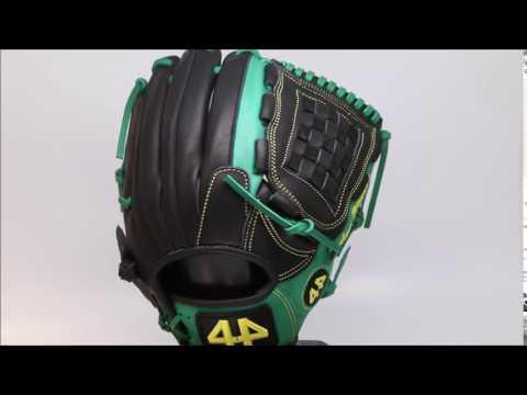 44 Pro Custom Baseball Glove Classic Series 2 C2 Green Black Basket Web