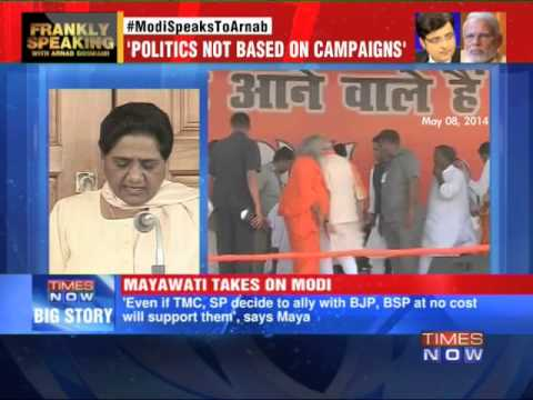 Mayawati reacts to Narendra Modi interview
