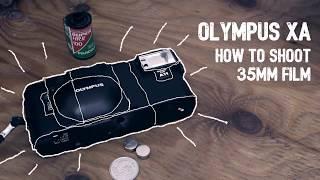 How to use OLYMPUS XA  Load Film & Test Shoot  35mm film camera]