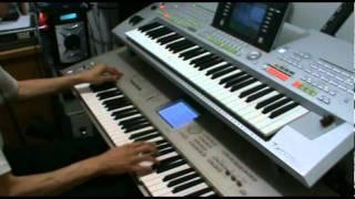 The Final Countdown ending solo - Yamaha Tyros 2 and Korg Triton Studio